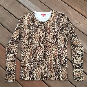 Merona Button Leopard Top